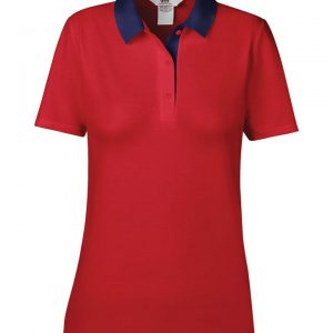 Another great option from our polo t-shirt range with contrast styles! These ladies double pique polo can be customised with embroidery or print making these an ideal option for your company workwear, uniform or club gear! These ladies branded double pique polo t-shirts are available in a great range of sizes and super stand out colours!