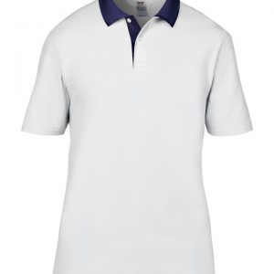 Another great option from our polo t-shirt range with contrast styles! These adult double pique polo can be customised with embroidery or print making these an ideal option for your company workwear, uniform or club gear! These branded polo t-shirts are available in a great range of sizes and super stand out colours!