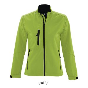 Coloured softshell ladies fit branded corporate wear jacket