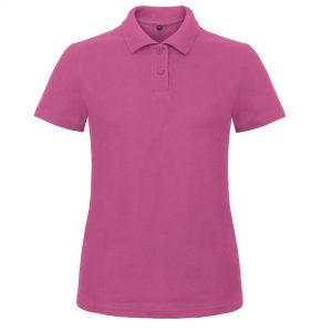 This basic B&C cotton polo for women is a short sleeve style piqué polo shirt which can be customised with embroidery or print making these an ideal option for your company workwear, uniform, promotional event or club gear! These  Pre-shrunk ringspun cotton branded polo t-shirts are available in a great variety of colours to suit your work team or promotional event!