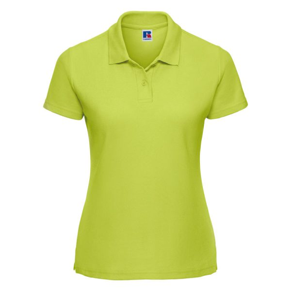 These women's classic polycotton polo t-shirts can be customised with embroidery or print making these an ideal option for your company workwear, uniform or club gear! These branded polo t-shirts are available in a range of sizes and super stand out colours!