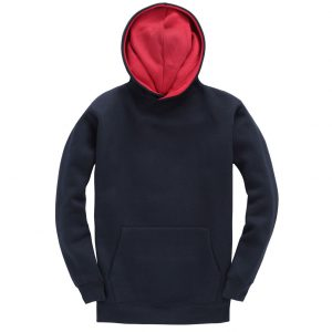 This premium Kids contrast hoodie from Cotton Ridge comes in a great range of sizes and stand out contrast colours to suit your requirements! You choose the colour and we will custom embroider your brand name or company logo ! These branded Kids premium contrast hoodies with heavyweight soft feel fabric are an essential addition to your club or company collection!