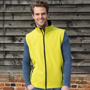 unisex sleeveless softshell in many colours