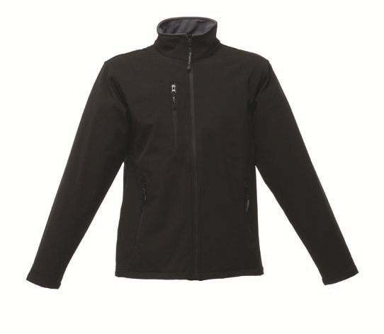 This Regatta Void Mens Softshell jacket is available in black or grey. You choose the colour and we will custom embroider your brand name or company logo. These branded waterproof and breathable softshell jackets are a must for inclusion in your corporate workwear and company uniform collection.