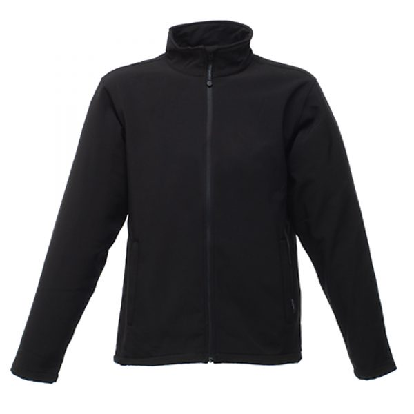 This lightweight and easy to wear Regatta Reid Softshell Jacket is another great option for your  corporate workwear  or branded company uniform collection.  A reliable and smart jacket that is stylish and warm great for when you are on the go. This jacket is fleece lined, windproof and waterproof and available in black, navy and seal grey . We can custom embroider your brand name or company logo onto these quick drying Regatta jackets.