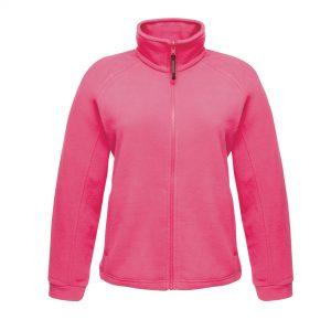 The ladies Thor III Fleece is a superb jacket from Regatta Professional made from anti-pill polyester fleece with an adjustable shockcord hem and two zipped lower pockets. This shaped fit and easy care jacket is available in a number of stand out colours and sizes! We can custom embroider your brand name or company logo onto this super quick drying fleece, making these branded jackets a must for inclusion in your corporate workwear or company uniform collection!