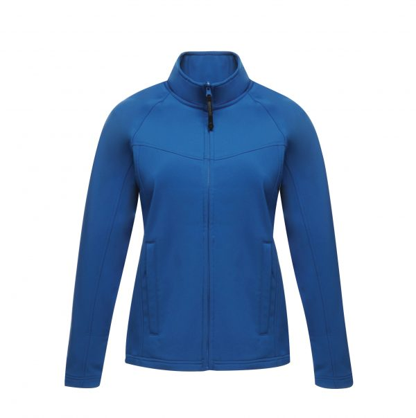 These ladies Regatta Uproar Softshell Jacket are lightweight and quick drying, a great option for your corporate workwear or branded company uniform collection.  A Shaped fit that any lady will feel comfortable wearing. These jackets are fleece lined, shower proof and wind resistant making this jacket ideal for work or leisure.  We offer a full branding service with onsite embroidery, get a quote today for your brand name or company logo on these jackets.
