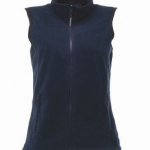 This ladies unlined regatta fleece bodywarmer is available in a number of sizes and comes in black or dark navy. We can custom embroider your company name or logo onto these shaped fit bodywarmers. This branded ladies bodywarmer with a full length zip and elasticated bound armholes is a great option for your corporate workwear or company uniform collection!