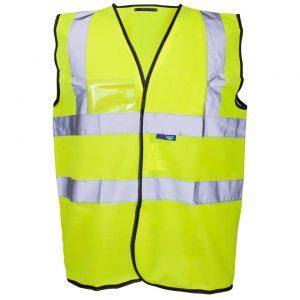 Custom printed hi vis vests with logo