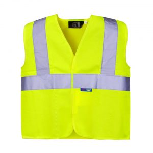 kids hi visibility vest with logo