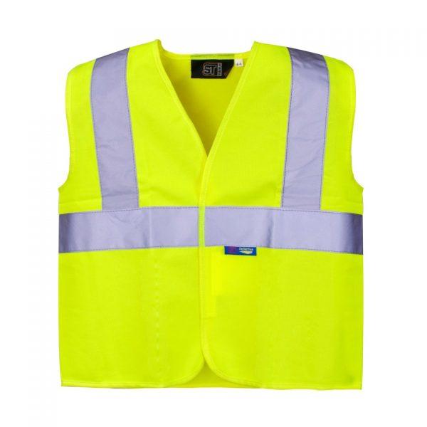 kids hi visibility vest with logo