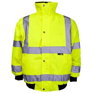 This hi vis junior bomber jacket can be printed with your brand name or company logo.This waterproof high visibility kids hi vis jacket offers comfort, quality and safety. The knitted storm cuffs provide ultimate protection. It is padded and lined for further comfort, warmth and protection. These 2 band brace customised Hi Vis Junior Bomber Jackets are ideal for your school, club or company!