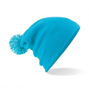 This Kids Snowstar Pom Pom Beanie is available in a range of colours. With a double layer knit and dual style- cuffed or slouch, this kids beanie can be custom embroidered with your business, company or club logo or name! These extremely popular branded kids beanie are a must for Autumn/winter for all clubs and businesses alike!