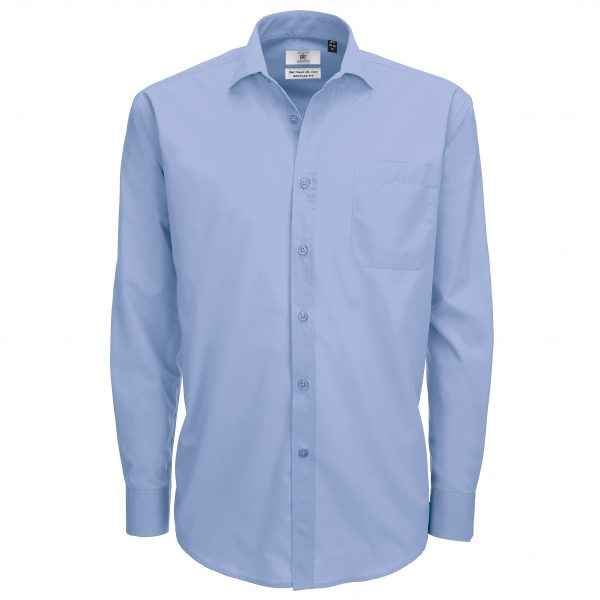 These Men's smart long sleeve comfortable and durable shirts are available in five great colours. You choose the colour and we will custom embroider your brand name or company logo. These branded men's long sleeve shirts are a smart addition to your corporate workwear or company uniform collection!