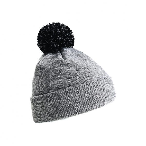 This snowstar two-tone double layer knit pom pom beanie is available in a range of colours to suit your company or club! Your company logo or brand name can be custom embroidered on the front of this dual style- cuffed or slouch beanie, ensuring that you stand out from the crowd! This branded pom pom beanie is a super addition to your Autumn/Winter workwear/uniform or club gear collection!