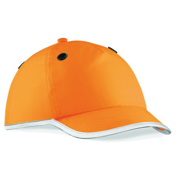 Customised hi visibility caps with your logo printed
