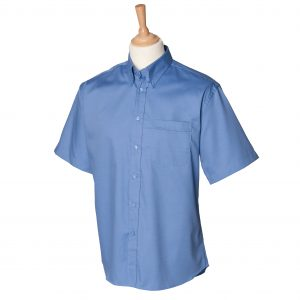 This men's short sleeve pinpoint oxford shirt is available in four great colours and a range of sizes. You choose the colour and we will custom embroider your brand name or company logo. These short sleeve button down collar branded shirts are a smart addition to your corporate workwear or company uniform collection!