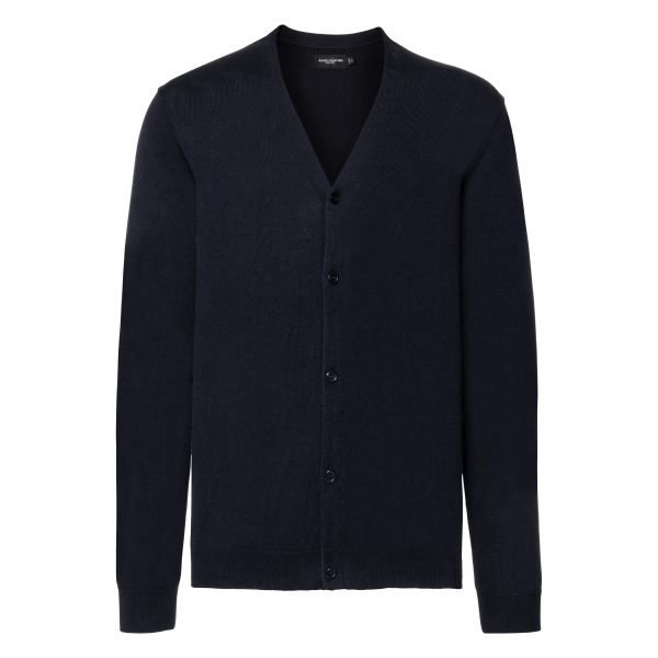 This easy care, classic fit mens Cotton Blend V-neck cardigan is available in a range of sizes and five great colours to suit your requirements! We can custom embroider your company logo or brand name, making these branded mens cardigans a great option for your corporate workwear or company uniform collection!
