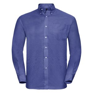 This men's long sleeve easy care oxford shirt is available in 6 great colours and a range of sizes too! You choose the colour and we will custom embroider your brand name or company logo. These branded men's classic fit shirts are a smart addition to your corporate workwear or company uniform collection!
