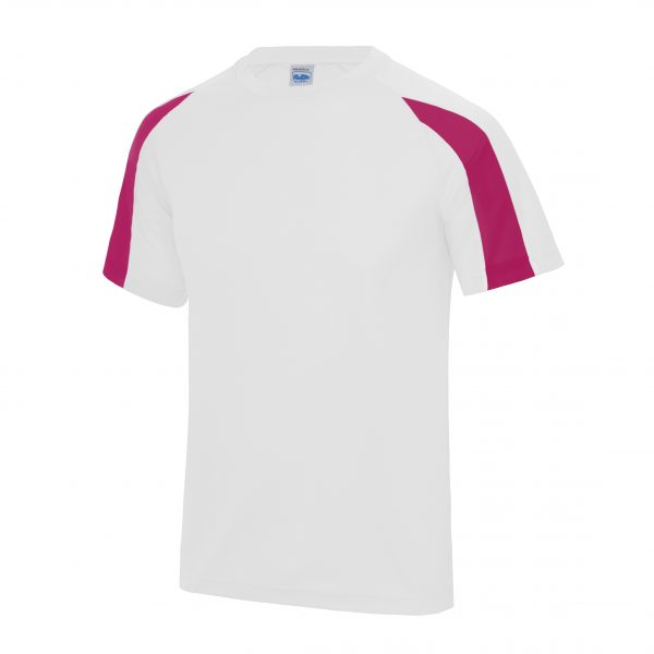 These contrast tees are an ideal option for teamwear custom clothing. These performance contrast T-Shirts are available in a range of sizes and contrast colours to meet your specific requirements! These printed t-shirts are a super addition to your business or club gear to showcase your brand or logo!