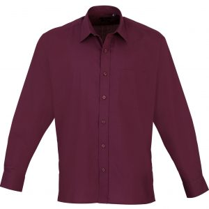 This men's long sleeve poplin shirt is available in super stand out colours (thirty colours in the range) and a great range of sizes too! You choose the colour and we will custom embroider your brand name or company logo. This branded men's long sleeve shirt is a smart addition to your corporate workwear or company uniform collection!