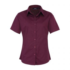 This ladies short sleeve poplin shirt is available in super stand out colours (thirty colours in the range) and a great range of sizes too! You choose the colour and we will custom embroider your brand name or company logo. This branded ladies short sleeve shirt is a smart addition to your corporate workwear or company uniform collection!