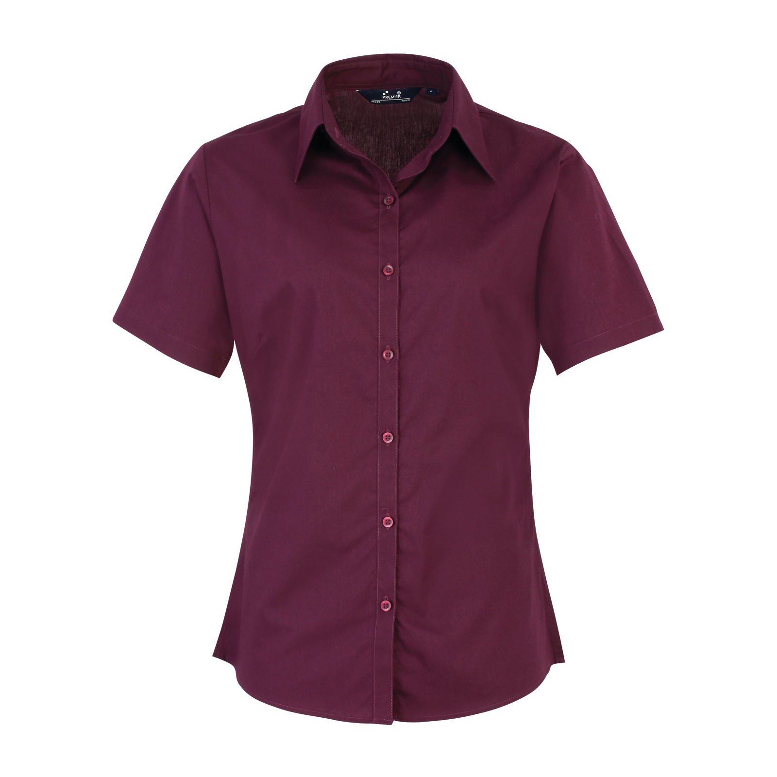 ab115b4a5e1bf3 This ladies short sleeve poplin shirt is available in super stand out  colours (thirty colours