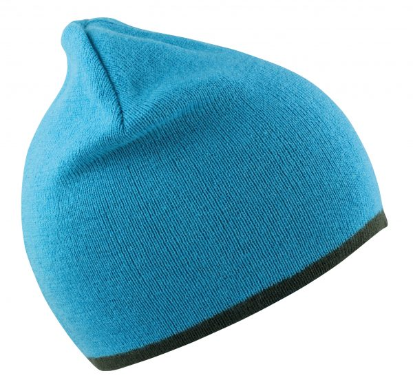 This reversible fashion full size hat is available in a range of colours to suit your business, company or club! These customised beanies with your logo or brand name embroidered on the front will ensure you stand out from the crowd and make for an ideal branded beanie for your workwear, uniform or club range!