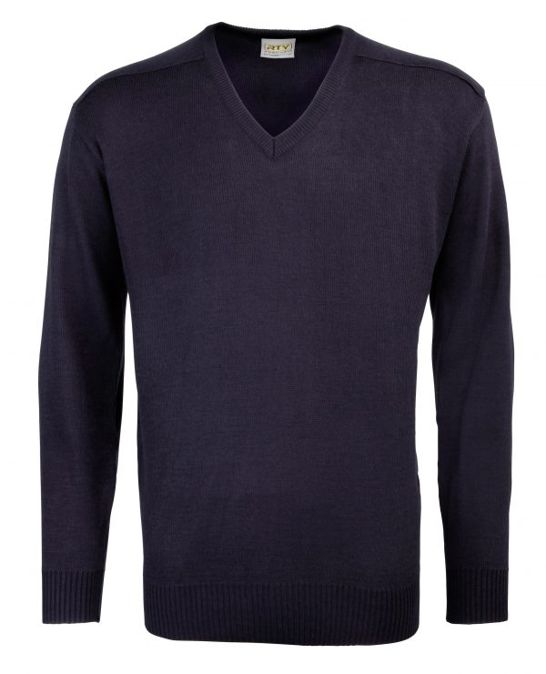 This fashion mens V-neck acrylic sweater is available in a range of sizes and three great colours to suit your requirements! We can custom embroider your company logo or brand name, making these branded mens V-neck sweaters a great option for your corporate workwear, club or uniform collection!