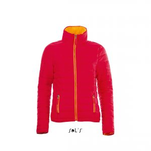 This ladies light padded, high collar, close cut fitting jacket is available in a range of sizes and great colours! Custom embroidered with your brand name or company logo these fitted branded ladies padded jackets are another option for your corporate workwear or company uniform collection!