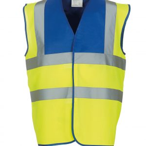 custom printed coloured hi vis vests