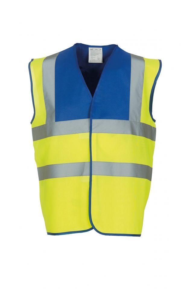 custom printed coloured hi vis vests