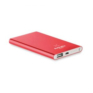 Flat power bank 4000mAh customised with your brand name or corporate logo