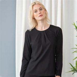 Pleated corporate workwear blouse
